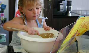 Unschooling Girl Baking